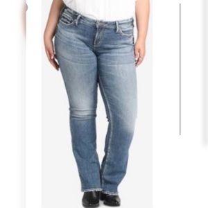 Silver Suki Boot Cut Factory Faded Jeans SZ 20/L32
